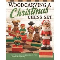 Woodcarving a Christmas Chess Set